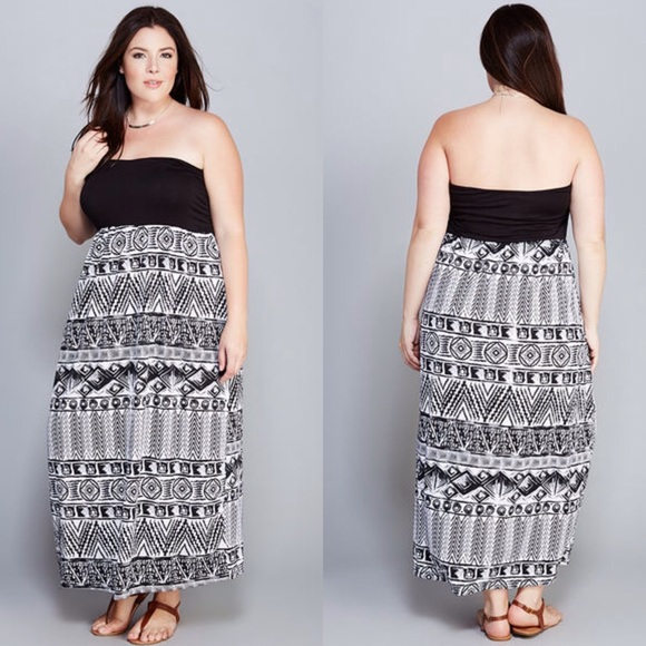 ⚡️Lowest Price! Strapless Maxi Dress Plus Size NWT