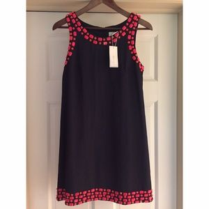 NWT Julie Brown beaded shift dress, size 0