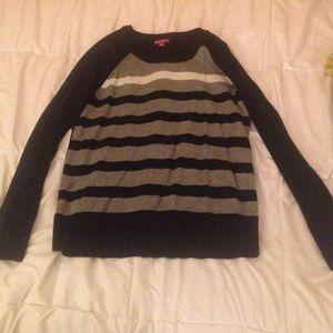 Black striped sweater.