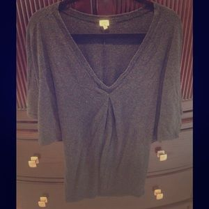 Tunic style stretchy sexy grey top by Wilfred