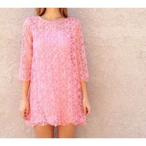| new | pink floral shift dress