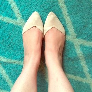 Old Navy Shoes - Nude D'Orsay Flats