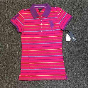 Tops - New U.S Polo Assn. Women Pink Polo  Tshirt sz S