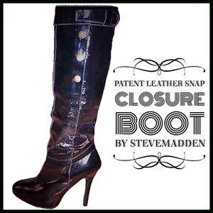 Steve Madden Shoes - Steve Madden Black Patent Boots  (Take 25% off)