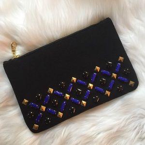 Handbags - Embellished Wool Clutch