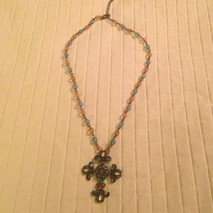 Vintage inspired cross necklace