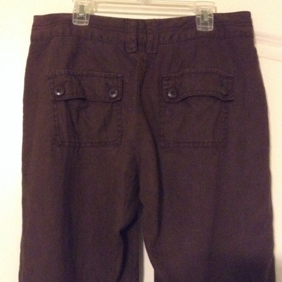 73% off Old Navy Pants - Old Navy chocolate brown capri pants from ...