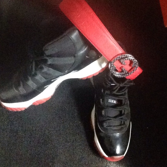 Whore3x Bred\u0027s 11 wit red Gucci belt wit purchase