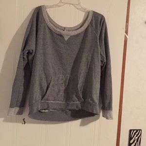 Grey sweater.