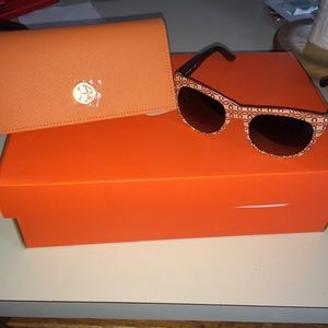 Authentic Tory Burch Sunglasses with case!