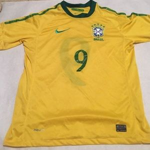 Brazil number 9 authentic jersey