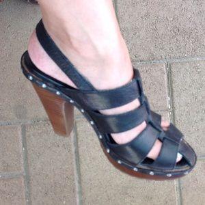 Dolce Vita black leather platforms size 7