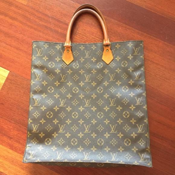 Authentic Louis Vuitton Sac Plat Tote Vintage