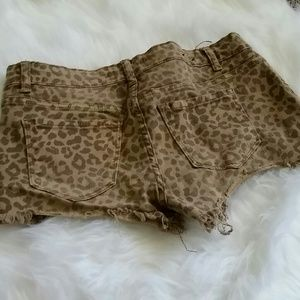 Klique B Other - Pac Sun Klique B Leopard Print Denim Shorts