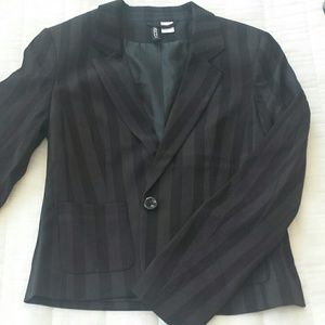Striped H&M blazer
