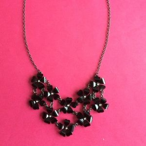 Jewelry - NWT black floral statement necklace