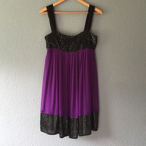 ABS purple and black dress