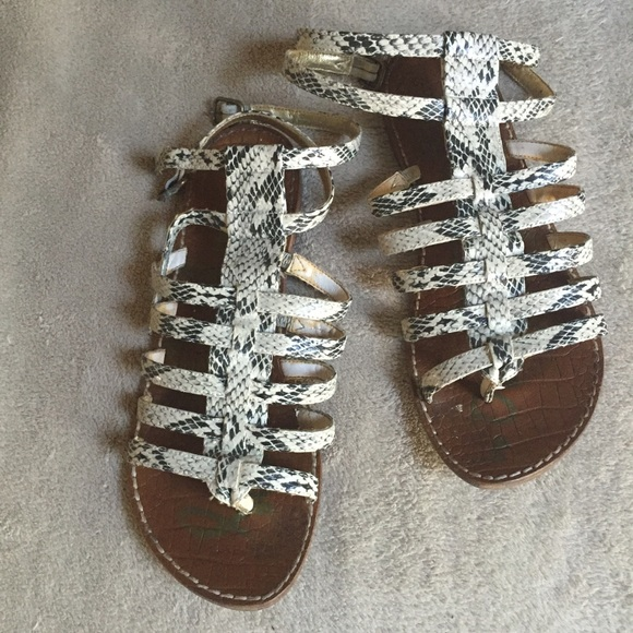 30385cc5d5052e Sam Edelman Gilda snake skin gladiator sandal. M 5585d47f2b995658ac005159