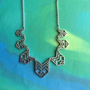 Jewelry - NWT chevron statement cut out necklace