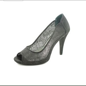 Style & Co Shoes - Style &co. Size 7 gray sheer peep toe pumps