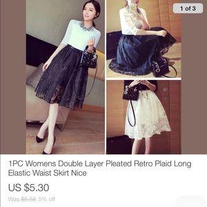 Women's flare ballet skirt Sizes SML