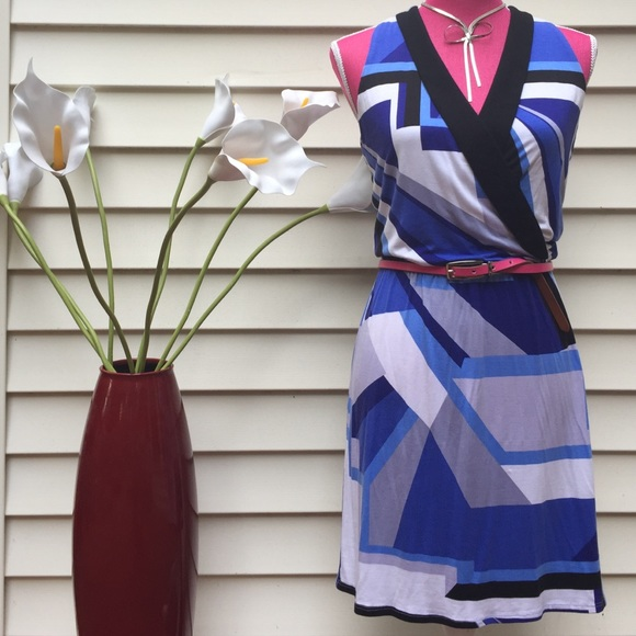 Envi Dresses & Skirts - Envi Graphic Print Summer Surplice Dress Sz XS