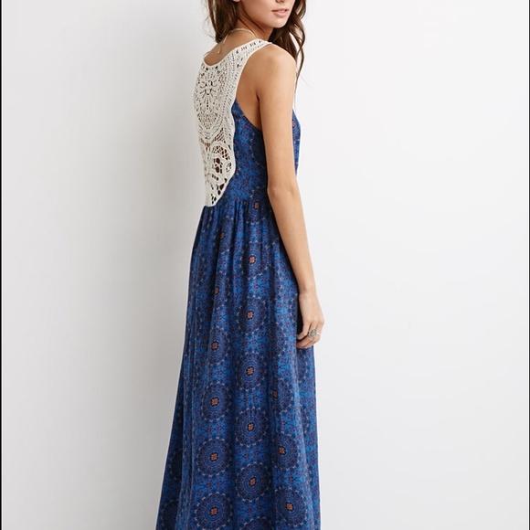 Forever 21 Dresses Crochet Back Maxi Dress Poshmark