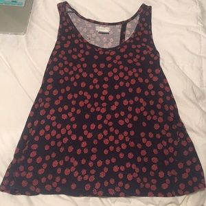 Urban Outfitters Berry open back tank