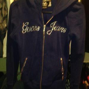 Blue guess hoodie