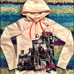 🎤🎸 HURLEY Music Concert White Zip Hoodie Jacket