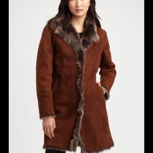 Cole haan toscana shearling coat