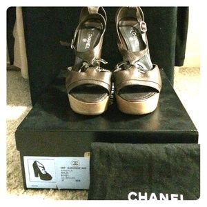 Chanel Brown Sandals 37