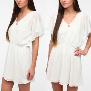 Lucca Couture Flutter Sleeve Dress