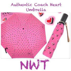 🎉🎉HP🎉🎉NWT Coach pink hearts umbrella
