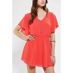 OFFER!✨Lucca Couture Flutter Sleeve Chiffon Dress