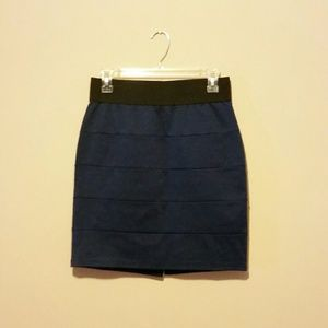 SOLD - Navy Blue Bandage Skirt - Size M