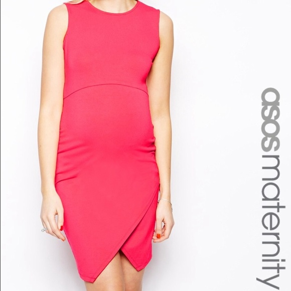 6e01b5df148 ASOS Dresses   Skirts - ASOS Maternity Dress fitted Hot Pink