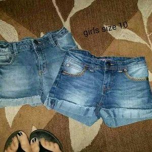 Girls Shorts 2 Pairs Sz 10