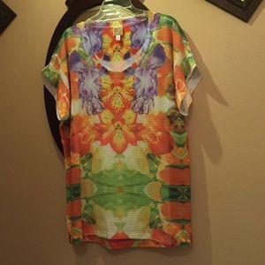 J. Mendel Tops - Mm orange tunic
