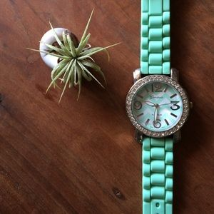 Mint Green Geneva Watch by Anthropologie