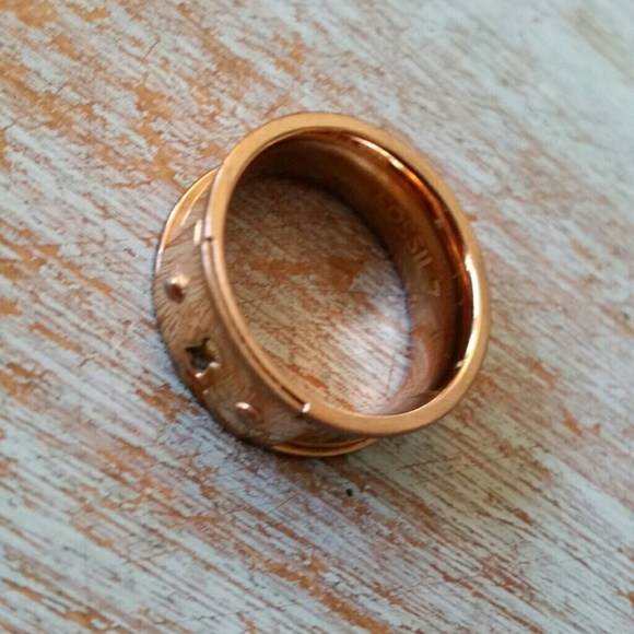 fossil jewelry rose gold ring size 7 poshmark