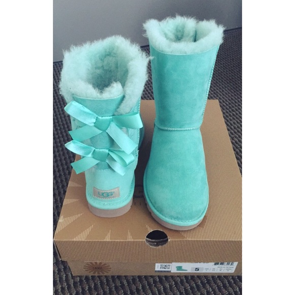 ugg bailey bow ugg mint aqua blue from shelly s