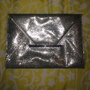 Clutches & Wallets - Silver Sparkly Clutch
