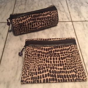 Stephanie Johnson Leopard Cosmetic Case Bundle