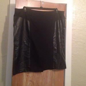 14th & Union Dresses & Skirts - NWT Black skirt w/ leather accents from Nordstrom