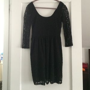 Black Lace Dress (M) from Pacsun