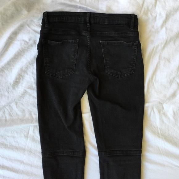 7a742965 Zara woman slim fit black jeans with zip pockets. M_5586f36316ba97196e009d50