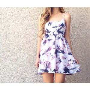 | new | lavender watercolor dress