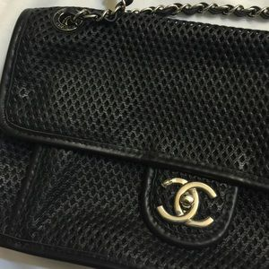 CHANEL Bags - Chanel perforated Lamb Skin flap bag