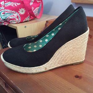 Merona Target wedge black heels